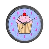 CUPCAKE WALL CLOCK WITH NUMBERS