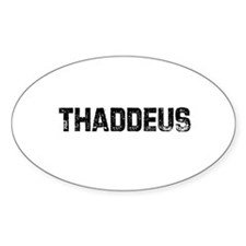 Thaddeus Oval Decal