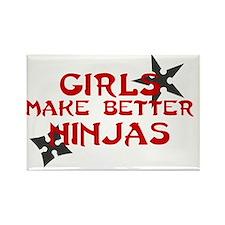 Girls make better ninjas Rectangle Magnet