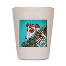 Dia Los muertos, day of the dead dog Shot Glass