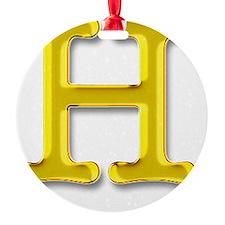 H Ornament