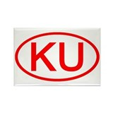 KU Oval (Red) Rectangle Magnet (100 pack)