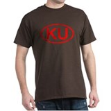 KU Oval (Red) T-Shirt