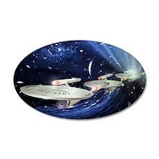 Star Trek Enterprise Poster 35x21 Oval Wall Decal