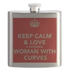 Keep Calm and Love a Tattooed Women Flask