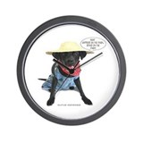 Black Lab Farmer Wall Clock