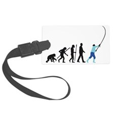 evolution of man fisherman Luggage Tag
