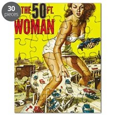 Attack of the 50 Foot Woman Poster Puzzle