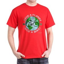 Save a Planet, Ride a Bike T-Shirt