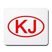 KJ Oval (Red) Mousepad