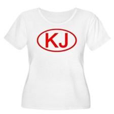KJ Oval (Red) T-Shirt