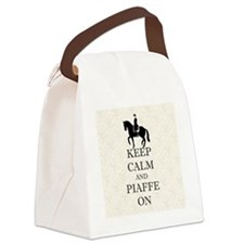 Keep Calm and Piaffe On Dressage  Canvas Lunch Bag