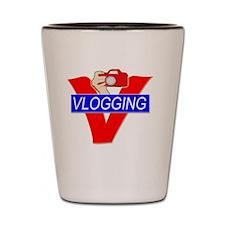 V for Vlogging with Camera Shot Glass
