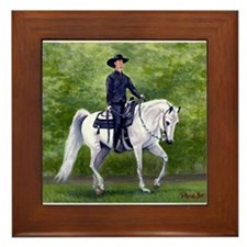 Arabian Western Pleasure Horse Framed Tile