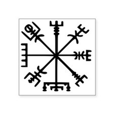 "Aegishjàlmr, Helm of Awe Square Sticker 3"" x 3"""