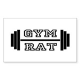 GYM RAT Rectangle  Aufkleber