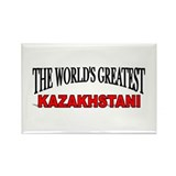"""The World's Greatest Kazakhstani"" Rectangle Magne"