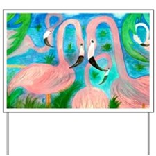 Flamingo party Yard Sign