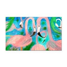 Flamingo party Rectangle Car Magnet