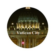 "VaticanCity_2.5x3.5_Ornament (Oval)_Sa 3.5"" Button"