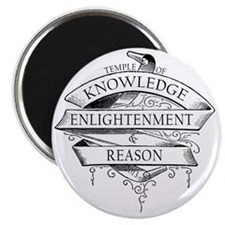 Temple of Knowledge, Enlightenment  Reason Magnet