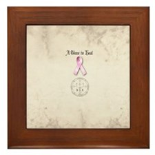 Raphael breast cancer allover back Framed Tile