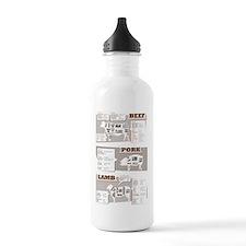 Beef cuts Water Bottle
