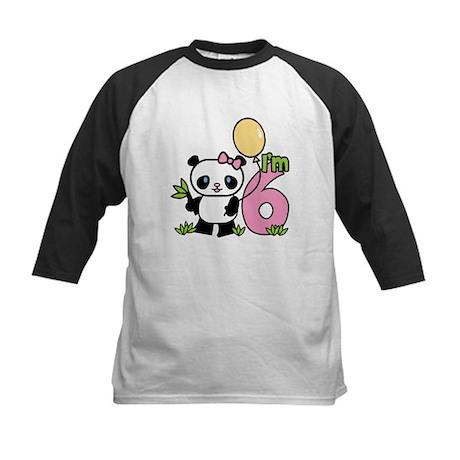 Lil' Panda Girl 6th Birthday Kids Baseball Jersey