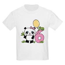Lil' Panda Girl 6th Birthday T-Shirt