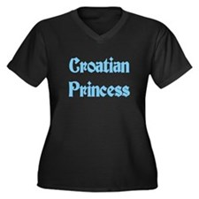Croatian Princess Women's Plus Size V-Neck Dark T-