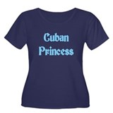 Cuban Princess Women's Plus Size Scoop Neck Dark T