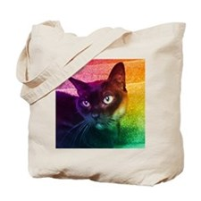 Burmese Cat Portrait B Tote Bag