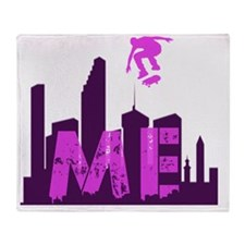 MIsfit Estate Logo - Purp Skyline Throw Blanket