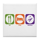 Eat Sleep Dentistry Tile Coaster