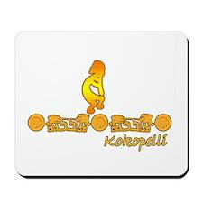 Gold Kokopelli Mousepad