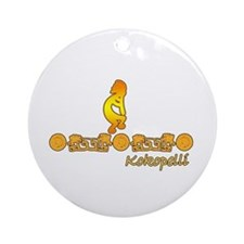 Gold Kokopelli Ornament (Round)