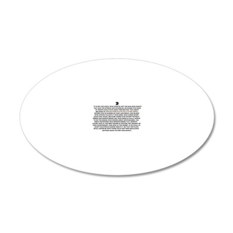 Man in the Arena 20x12 Oval Wall Decal