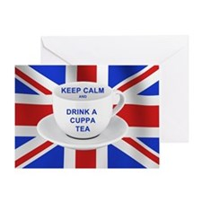 Keep Calm and Drink a Cuppa Tea Greeting Card