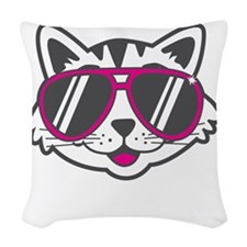 Check Meowt Woven Throw Pillow