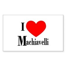 I Love Machiavelli Rectangle Decal