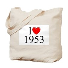 """I Love 1953"" Tote Bag"