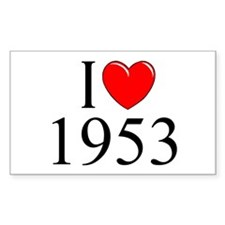 """I Love 1953"" Rectangle Decal"