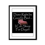 Good In Bed Framed Panel Print