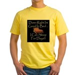 Good In Bed Yellow T-Shirt