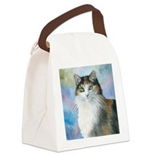 Cat 572 Calico Canvas Lunch Bag