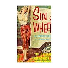 Sin On Wheels Decal