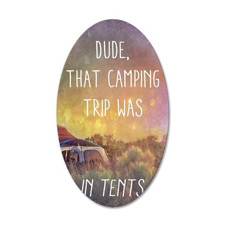 Camping Trip 35x21 Oval Wall Decal