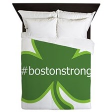 #bostonstrong shamrock Queen Duvet