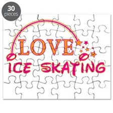Love Ice Skating Rainbow & Stars Puzzle