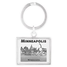 Minneapolis_10x10_SpoonbridgeAn Landscape Keychain